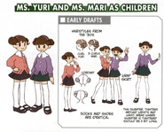 Ms. Yuri and Ms. Mari as Children concept art