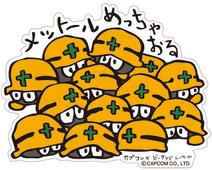 CAPCOM × B-SIDE LABEL Sticker Rockman Metall