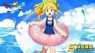 【ROCKMAN X DiVE】泳裝蕾亞與蘿露 Swimsuit Layer and Roll