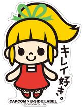 CAPCOM × B-SIDE LABEL Sticker Rockman Kirei Suki