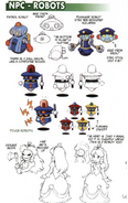 NPC - Robots concept art