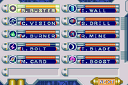MM&B Weapon Select Screen (GBA)