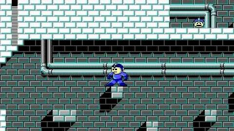 Mega Man 3 PC DOS Stage 4 - Blade Man