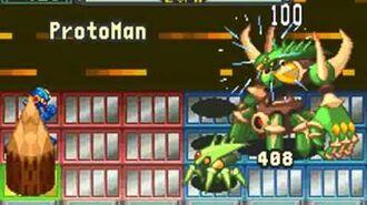 MegaMan defeating the original Life Virus