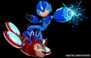 Mega Man Fully Charged Mega Man and Rush Render