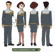Concept art of WAZA Administrative Staff
