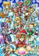 MegaManXChristmasIllustrationYoshihiroIwamoto