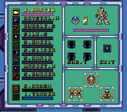 MMX2 Weapon Select Screen