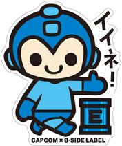 CAPCOM × B-SIDE LABEL Colab Sticker Rockman
