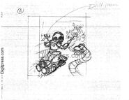 Mega Man III rough cover sketch