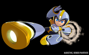 Mega Man Fully Charged Mega Man (Air Man Schematic) Render