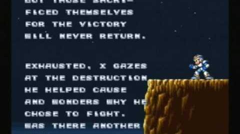Mega Man X Ending