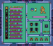 MMX3 Weapon Select Screen