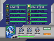 MMX4 Weapon Select Screen (X)