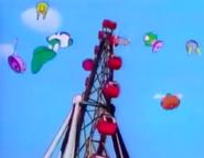 MM5 Wily Bots gathering near a Ferris Wheel