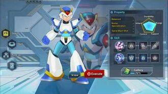 Mega Man X DiVE - First Armor X Easter Egg