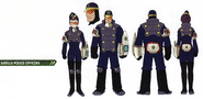 Concept art of Satella Police Officers
