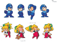 MM8 Chibi Mega Man and Roll