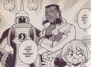 ThunderMan.EXE and Raoul in NT Warrior manga