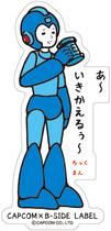CAPCOM × B-SIDE LABEL Sticker Rockman Drink