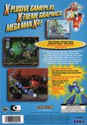 Mega Man X4 Sega Saturn back