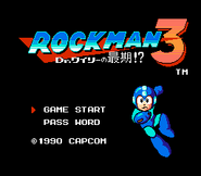 Rockman 3 Title Screen