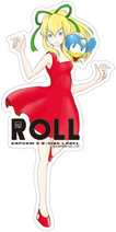 CAPCOM × B-SIDE LABEL Sticker Rockman Roll & Beat