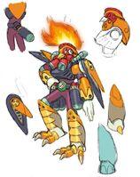 MegaManX8-BurnRooster-ConceptArt