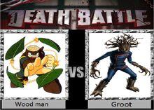 Wood man vs Groot