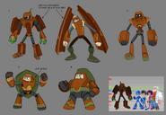 Mega Man Fully Charged Wood Man Concept A