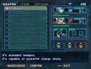 MMX8 Weapon Screen