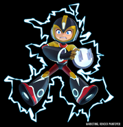 Mega Man Fully Charged Mega Man (Elec Man Schematic) Render