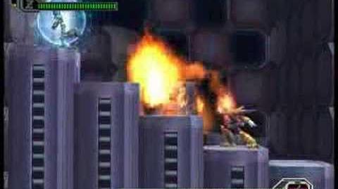 Megaman X8 Boss Burn Rooster Hard mode no wall no damage