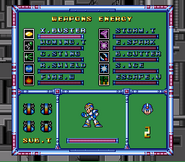 MMX Weapon Select Screen