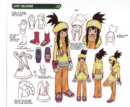 Concept art of Amy Gelande