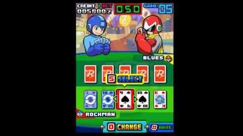 Rockman Poker (ロックマンポーカー) on Mobile Phone