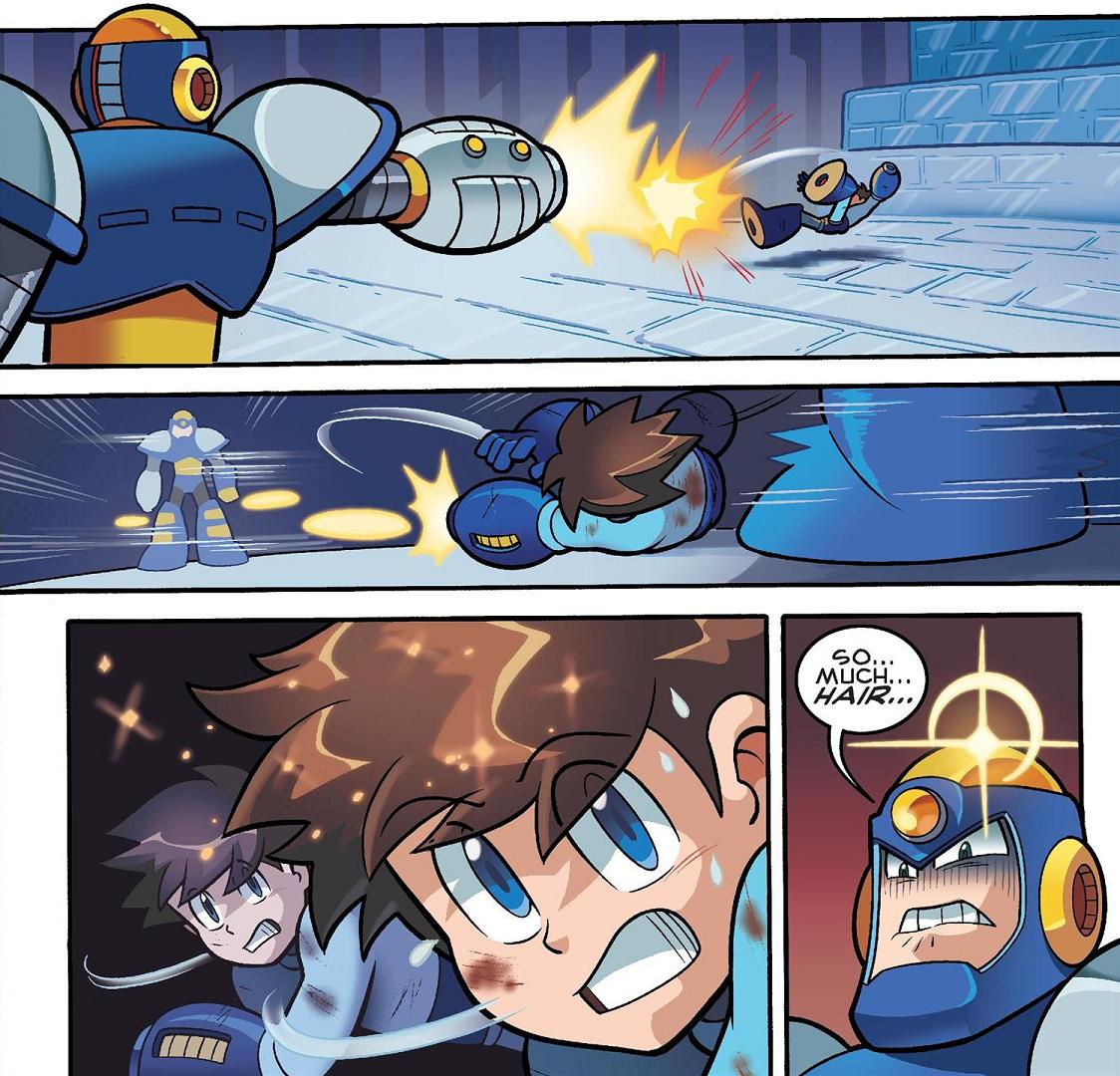 SASHA: Mega man comic strip