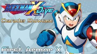 Mega Man X DiVE - First Armor X Showcase Gameplay, Skills, & 3D Model