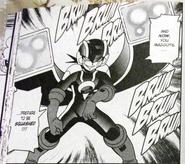 Dark MegaMan Laserman Cross