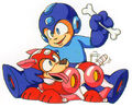 MM3MegaMan&Rush
