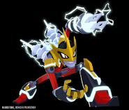 Mega Man Fully Charged Elec Man Render