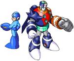 MM8 Mega Man and Duo