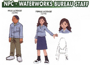 NPC - Waterworks Bureau Staff concept art