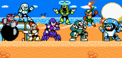 Mega man eternal ii robot masters in colour by discretecomputation-d9f4wgf