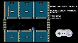 Mega Man Rock N Roll - Tide Man- Buster Only, Perfect, No Miss