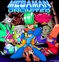 Megaman unlimited release cover art by megaphilx-d6cepju