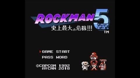 Rockman 5 EX Shijou Saidai no Kiki!!! (NES FC) - Longplay