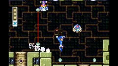 Mega Man X1 Boomer Kuwanger Turtle Skip
