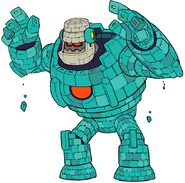 Mega Man 11 Block Man Transformed Concept Art