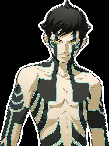 File:Artwork of Demi-God for Shin Megami Tensei IV Final DLC.png